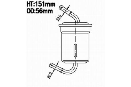 JN9059 FUEL FILTER KIA OK03C-20-490 KRALINATOR G170 LEE