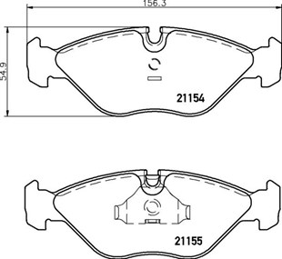 8DB 355 007-591 PREPARED FOR WEAR INDICATOR DISC PAD SET
