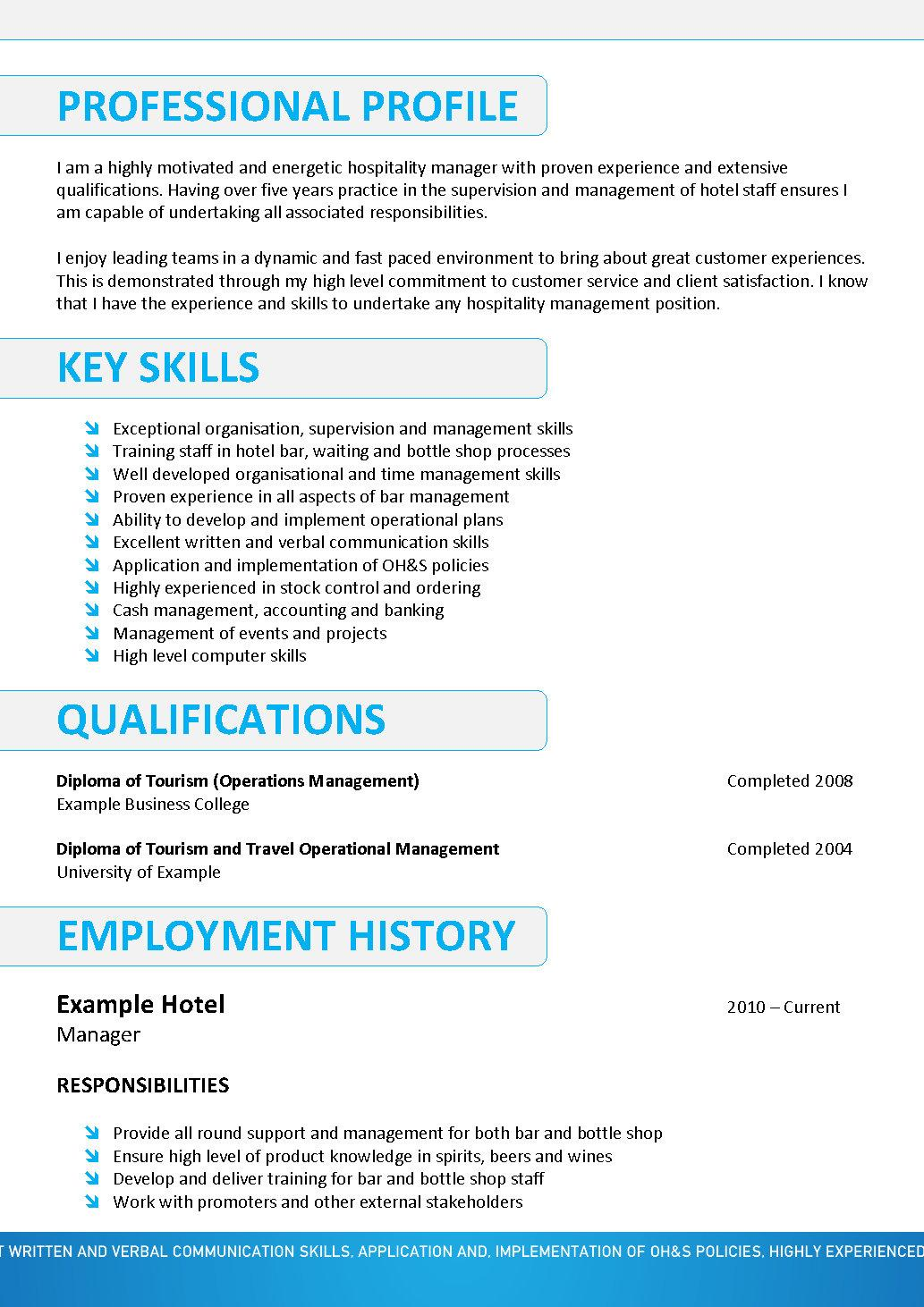 Hospitality resume example examples of resumes hospitality resume australia resume sle australia hospitality we yelopaper