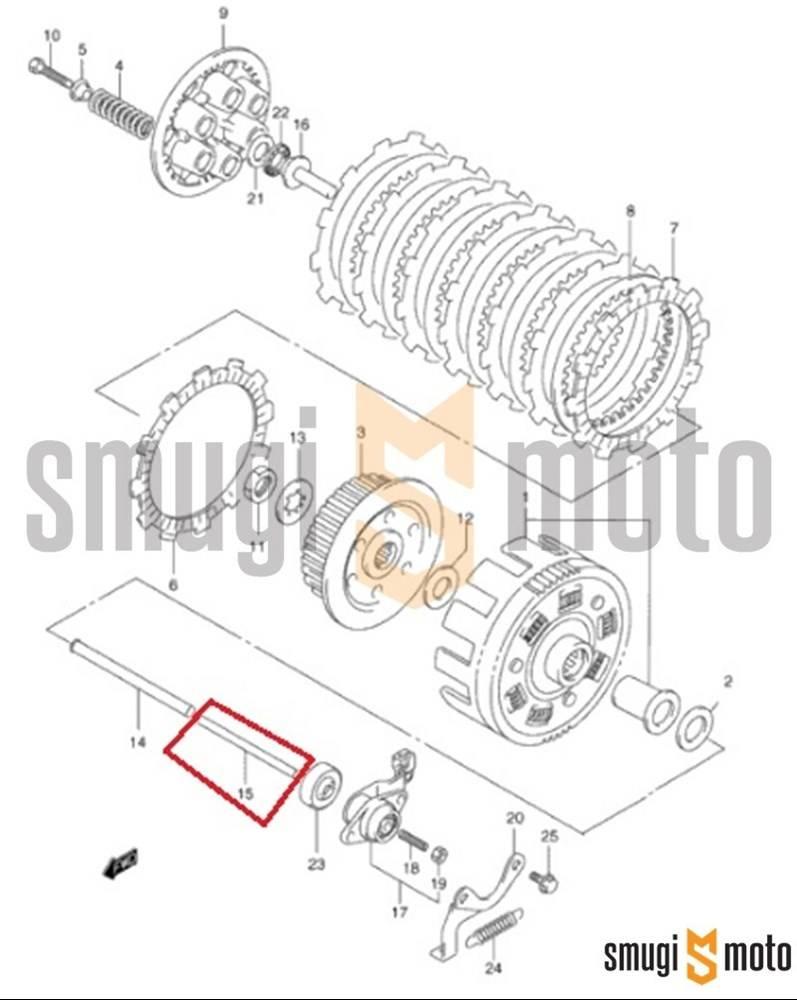 Popychacz wysprzęglika, Suzuki VS 1400, VL 1500, GV 1400