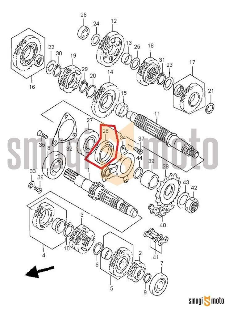 Uszczelniacz wałka zdawczego, Suzuki TL 1000 '97-03, DL