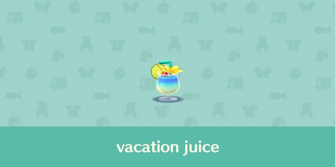 Animal Crossing Adds Vacation Juice Which Totally Isn T Alcohol