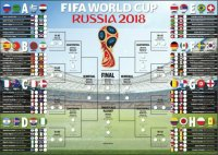 Russia 2018 Fifa World Cup fixtures, printable wall chart