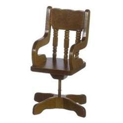 revolving chair for kitchen tommy bahama dining chairs office dollhouse furniture superior walnut