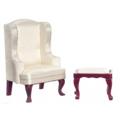 Queen Anne Wing Chair Swivel For Bathtub Stool Wh M Dollhouse Arm Chairs Superior