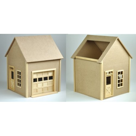 Garage Kitmilled Mdf Dollhouses Dollhouse Kits