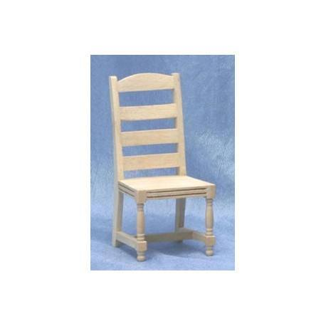 unfinished ladder back chairs rocking chair walmart side dollhouse dining room
