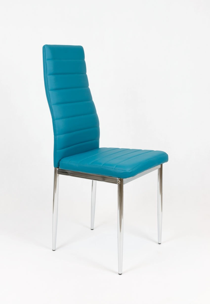 SK DESIGN KS001 DARK TURQUOISE SYNTHETIC LETHER CHAIR WITH