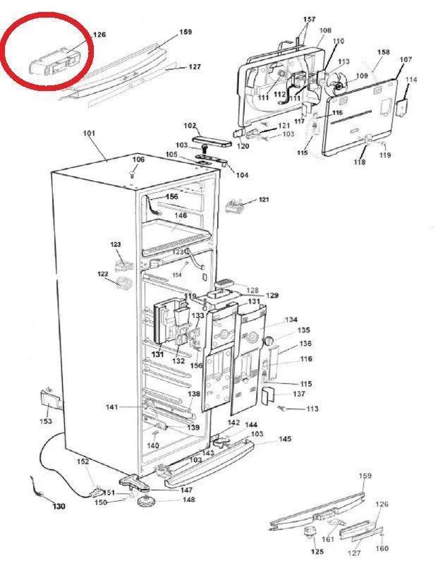 Base Console Geladeira Brastemp Clean BRM35 BRD36 BRD47