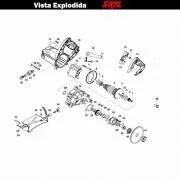 VISTA EXPLODIDA PEÇAS P/ SERRA MÁRMORE SKIL 9815