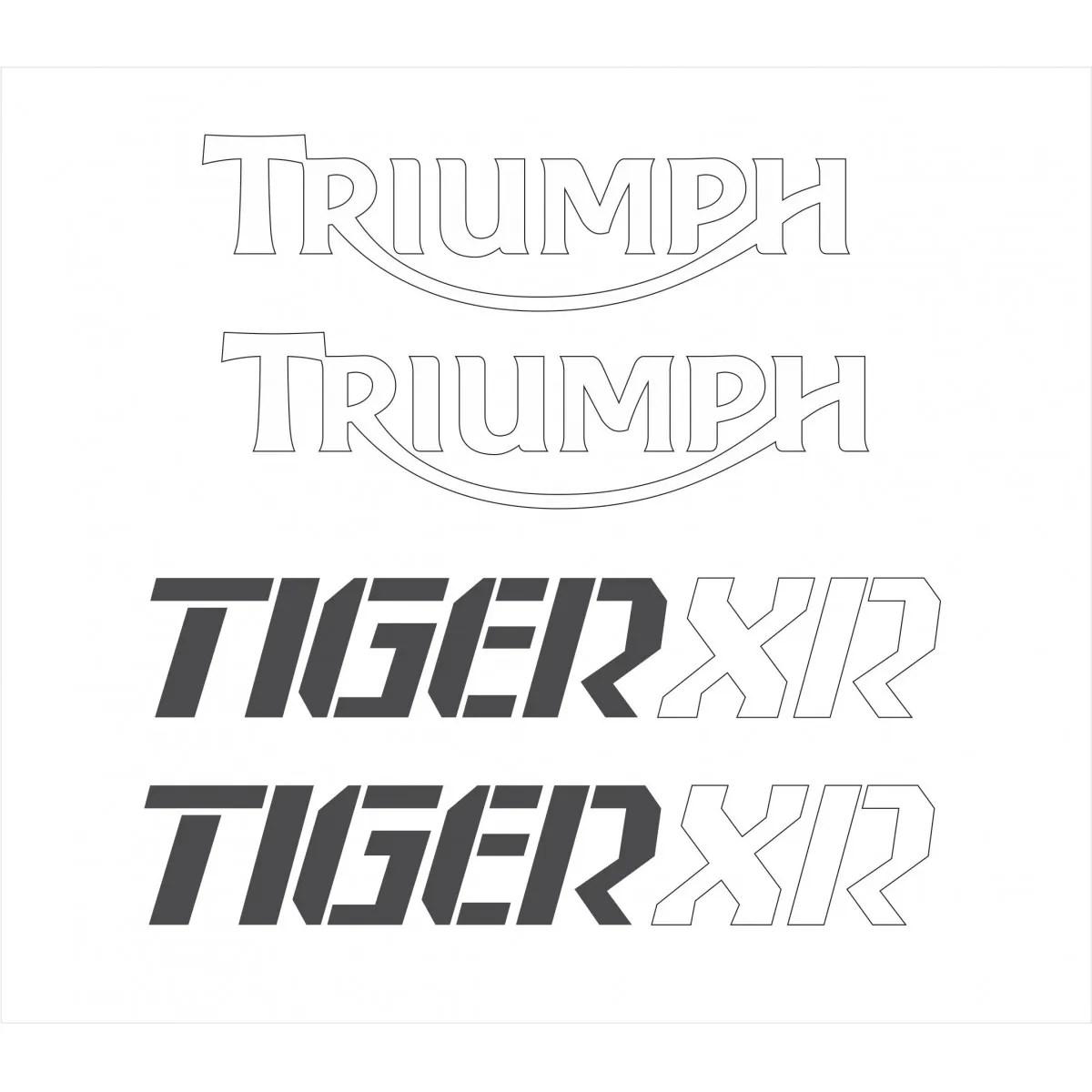 Kit Adesivo Triumph Tiger 800xr 800 Xr Preta Tg024