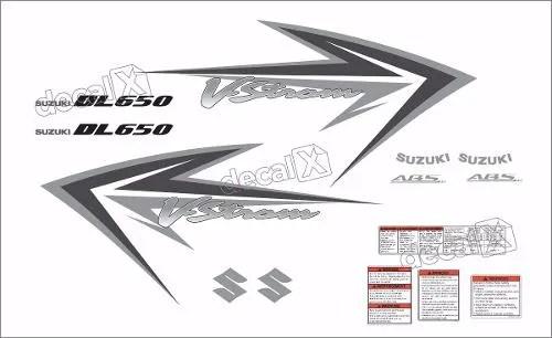 Kit Jogo Adesivo Suzuki Vstrom Dl650 2009 Branca Vt005