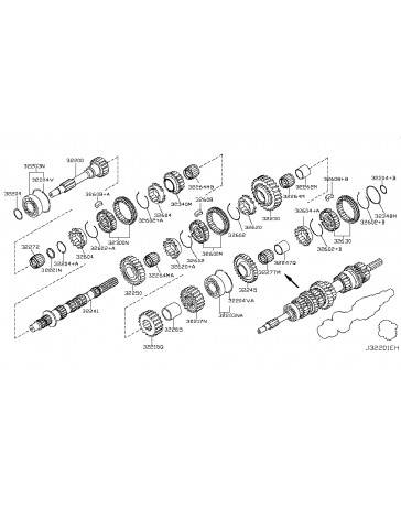 350z DE Nissan OEM Synchronizer Ring Baulk Assembly, 1st