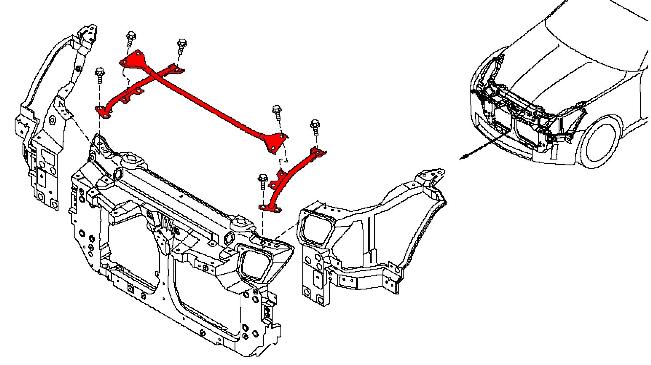 350z Nissan Oem Nismo Front Underhood H Brace