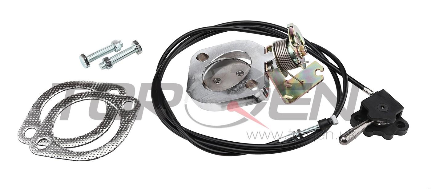 R35 GT-R P2M Exhaust Control Valve, 2-Bolt Flange, 2.5