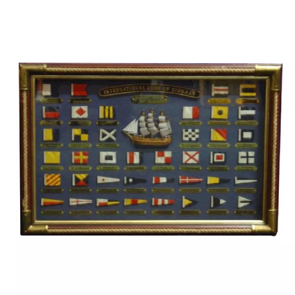 Kódlobogók köteles keretben 60 x 40 cm Csomó képen