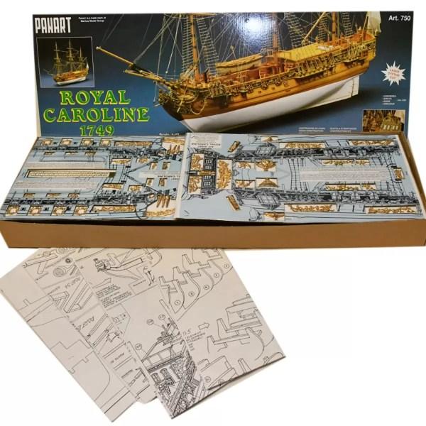 Royal Caroline hajómakett építőkészlet Panart