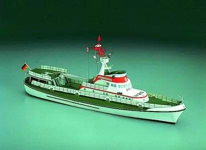 John T. Essberger papírmakett Papír hajómakett