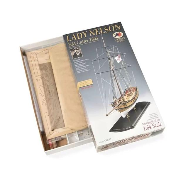 Lady Nelson hajómakett építőkészlet Victory Models