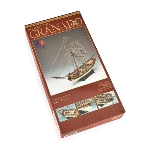 H.M.S. Granado hajómakett építőkészlet Victory Models