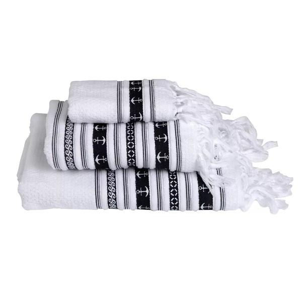 Törölköző szett SANTORINI fehér Törülközők