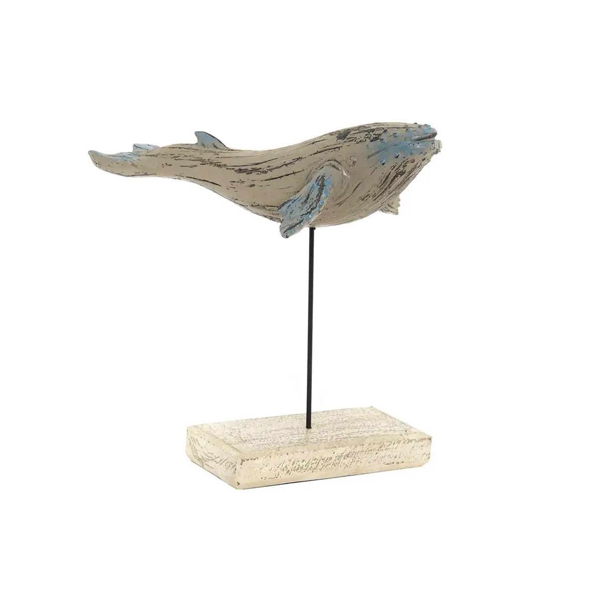 Vintage stílusú bálna fa talpon Mókás figurák, szobrok