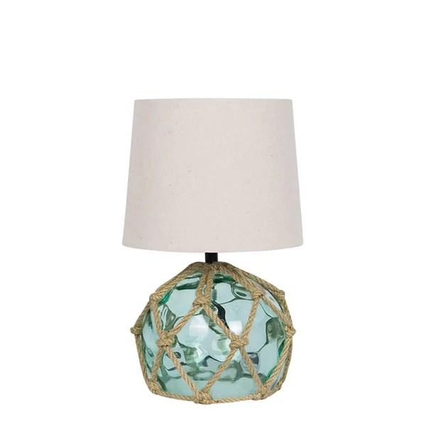 Üvegbója lámpa türkisz Bója