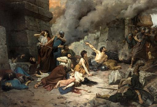 Entrada de los romanos en Numancia