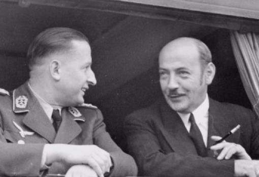 Hermann y su hermano Albert Göring, en una imagen de archivo