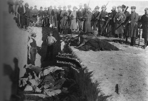 Inhumación de cadáveres en Wounded Knee
