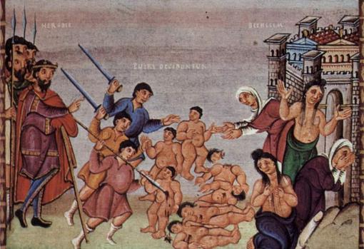 El degüello de los inocentes, según un manuscrito del siglo X.