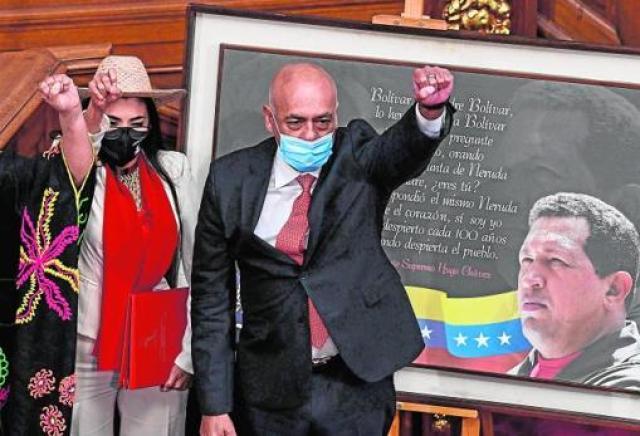 Jorge Rodríguez jura el pasado enero como presidente de la Asamblea venezolana tras las elecciones legislativas que la oposición y buena parte de la comunidad internacional no reconocen