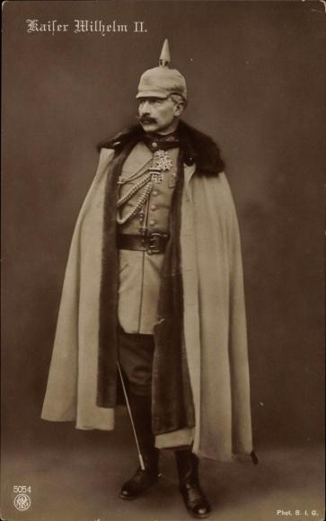 Ansichtskarte  Postkarte Kaiser Wilhelm II Uniform mit  akpoolde