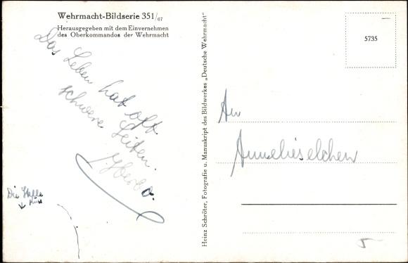 Postcard Deutsche Wehrmacht, Nur nicht weich werden