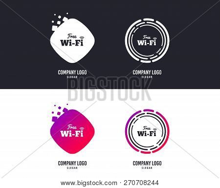 logotype concept free wifi