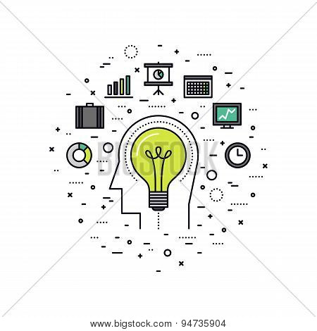 Business Innovation Line Style Illustration Poster ID:94735904