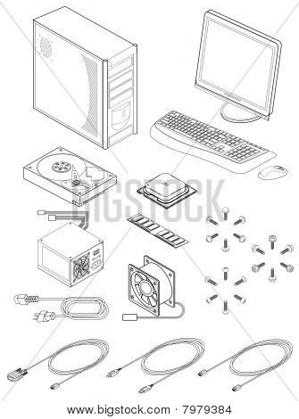 Picture or Photo of Vector illustration of various