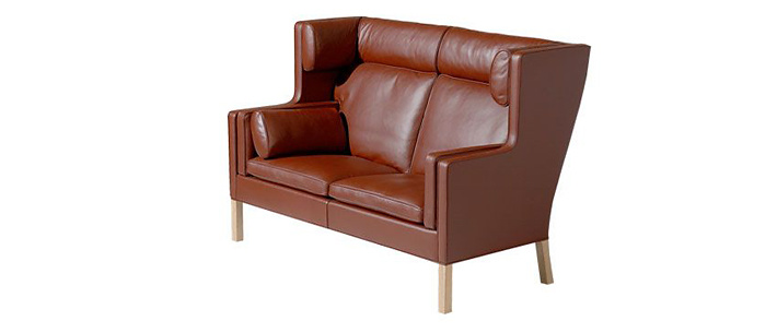 borge mogensen sofa model 2209 large leather sectional with chaise 2192