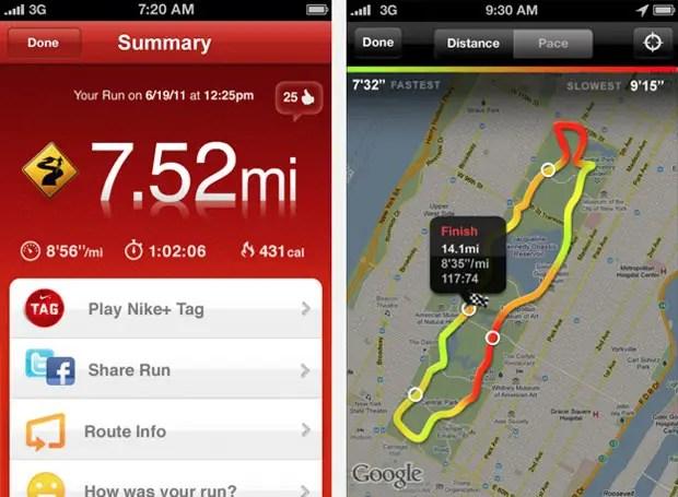 Nike GPS app