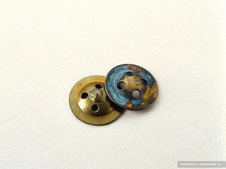 Put together, these two fasteners could create a compass.