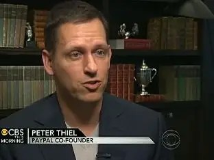 Peter Thiel, investor, VC and hedge fund manager