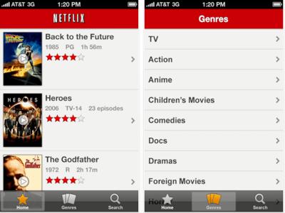 Netflix on iPad Screencap