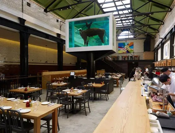 Damien Hirst Sculpture At Tramshed In London  Business Insider