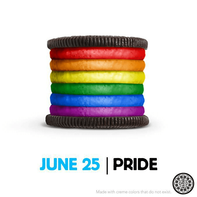 Here's a Oreo Daily Twist post about gay pride that went viral.