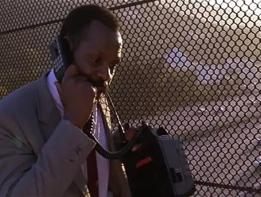 """1987: Danny Glover's suitcase cell phone in """"Lethal Weapon."""""""