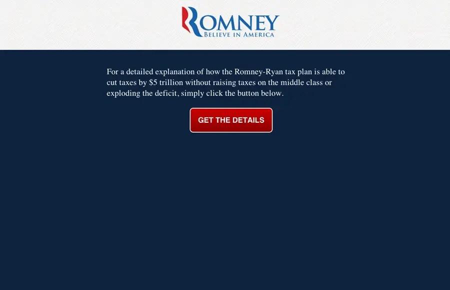 romney tax plan site