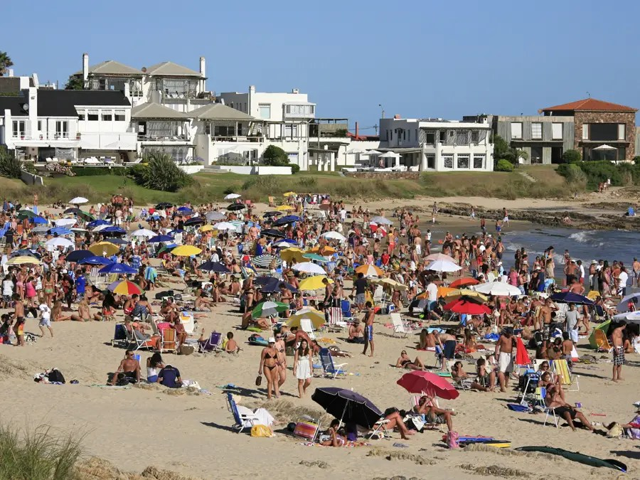 Punta del Este is a bustling beach in Uruguay that has a fun party vibe.