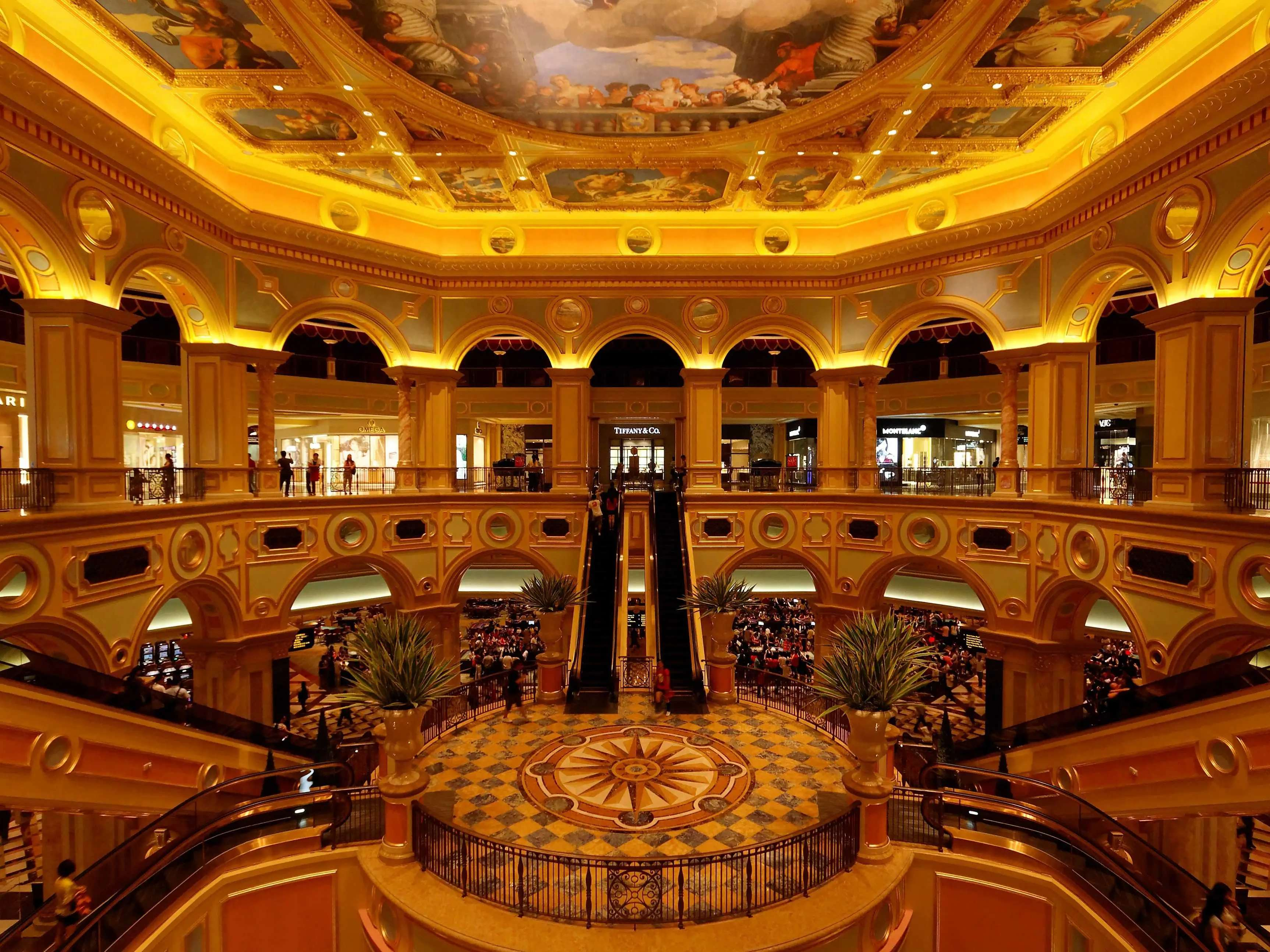 Play a hand of blackjack in one of Macau's enormous casinos.