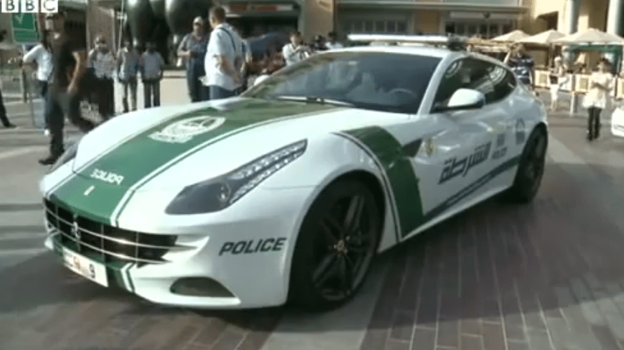 The $550,000 Ferrari FF has two doors, seating for four, and a V12 engine that can send the car up to 208 mph. It will be used only by female officers.