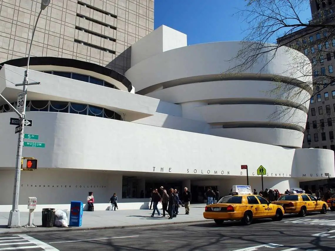 The Solomon R. Guggenheim Museum in New York is the oldest Guggenheim Museum. It has a 400-meter long ramp that spirals its way to the fourth floor.